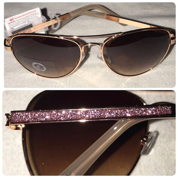 b355d0d650 Juicy Couture pink glitter aviator sunglasses NWT